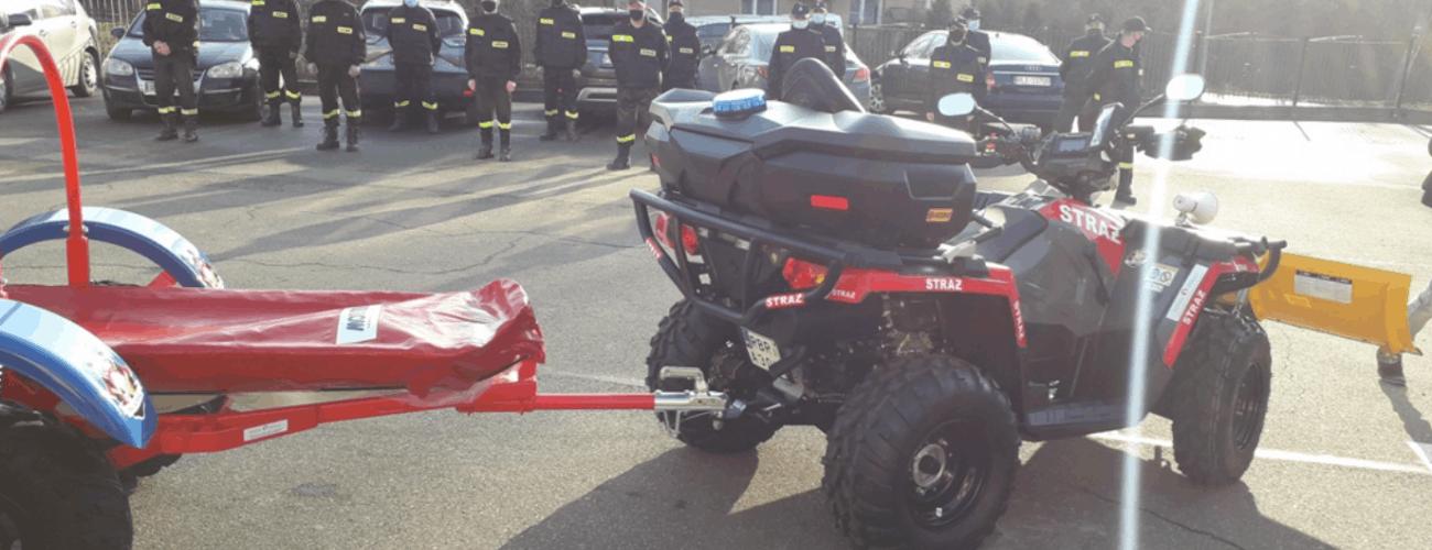 Do OSP w Malinówce trafił quad ratowniczy!