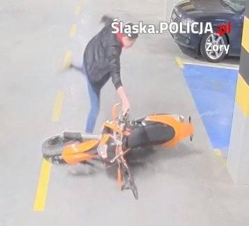 Żory. Policja poszukuje mężczyzny, który próbował ukraść jednoślad