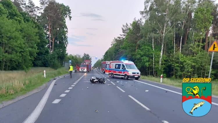 Sierpc: śmiertelny wypadek motocyklistów. Zginęła jedna osoba